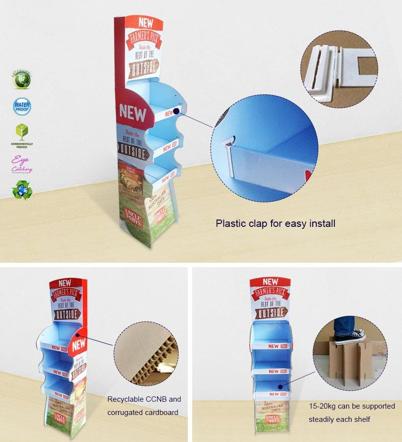 3 Tiers Cardboard Display Stand for Foods-3