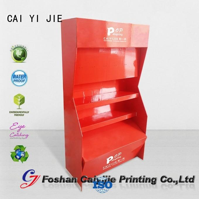 CAI YI JIE custom cardboard display stands uv for store