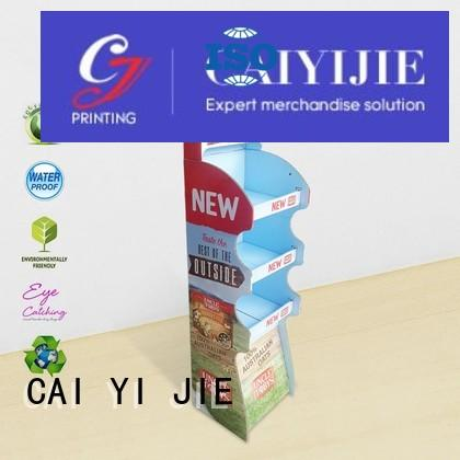 space stores displays CAI YI JIE Brand cardboard stand supplier