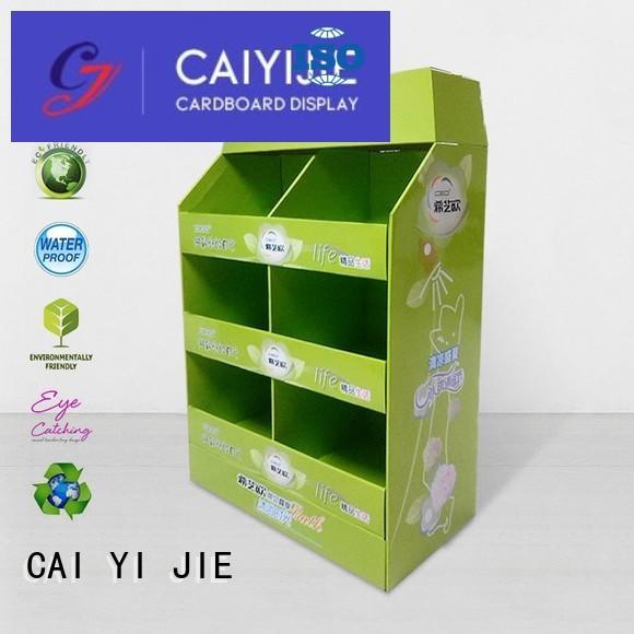 CAI YI JIE Brand racks retail pallet display manufacture
