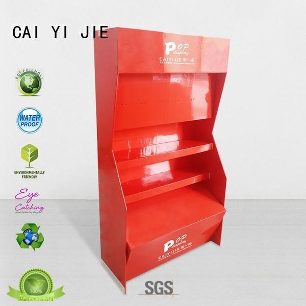 CAI YI JIE cardboard pop displays tiers for cabinet