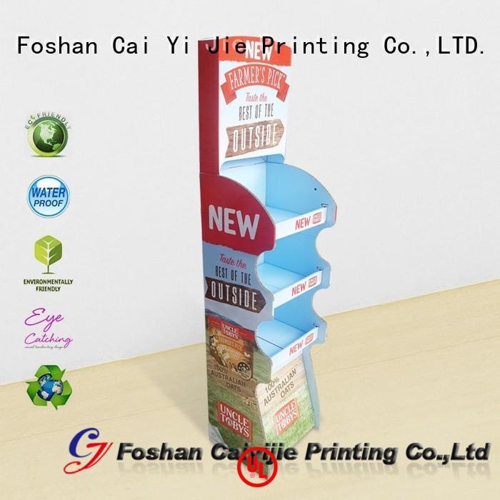 CAI YI JIE multifunctional cardboard display step for milk