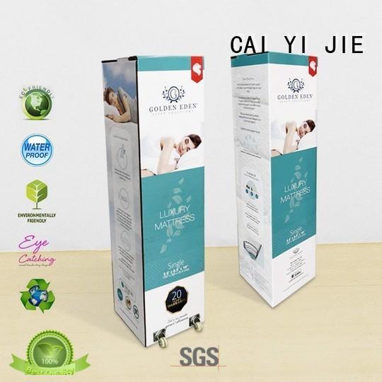 printed cardboard boxes wheel for retail CAI YI JIE