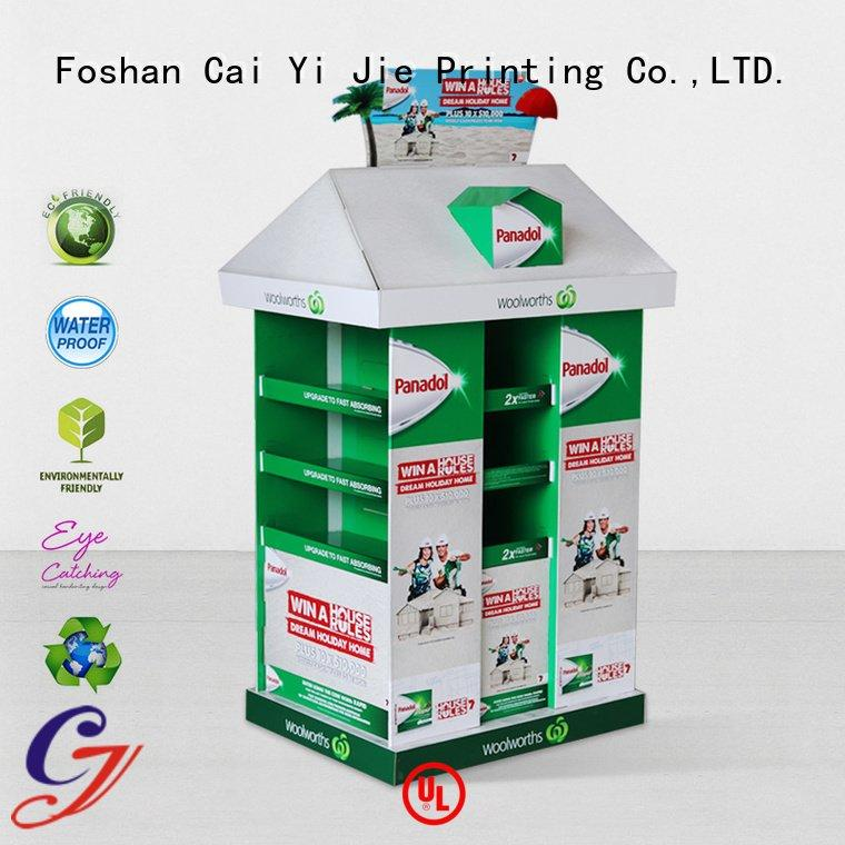 cardboard pallet display racks CAI YI JIE Brand pallet display