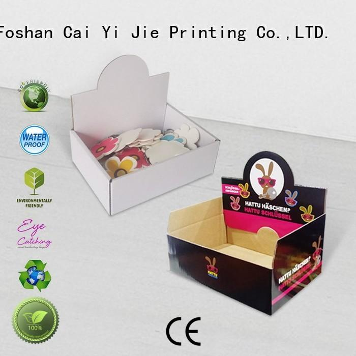 CAI YI JIE grocery cardboard countertop displays hot-sale for stores