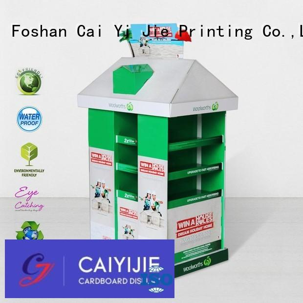 CAI YI JIE carton cardboard pallet display paper stand for stores
