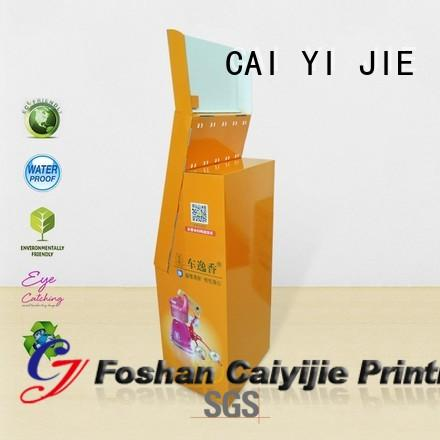 ODM cardboard business card display holders hook stands for perfume