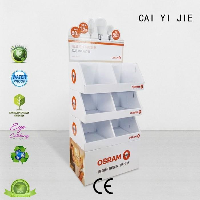 CAI YI JIE promotional cardboard pop displays tiers for kitchen supplies