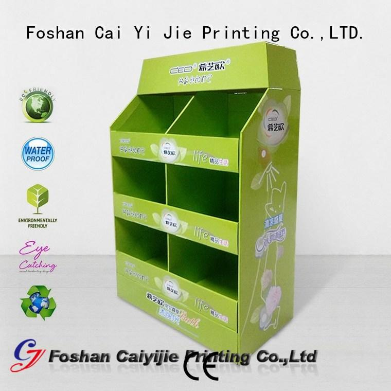 CAI YI JIE pallet cardboard pos for stores