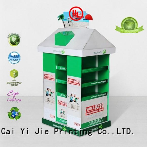 promotional pallet cardboard paper stand for stores