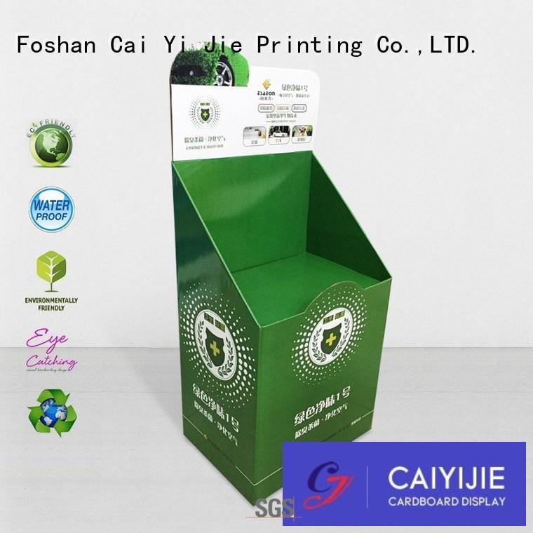 displays stair super cardboard greeting card display stand CAI YI JIE Brand