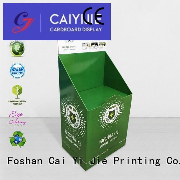 special cardboard pos display chain for foods CAI YI JIE
