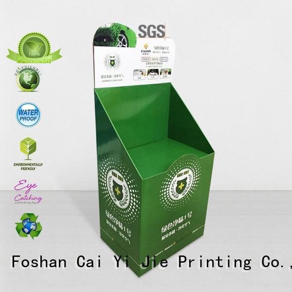 retail products cardboard cardboard stand CAI YI JIE Brand