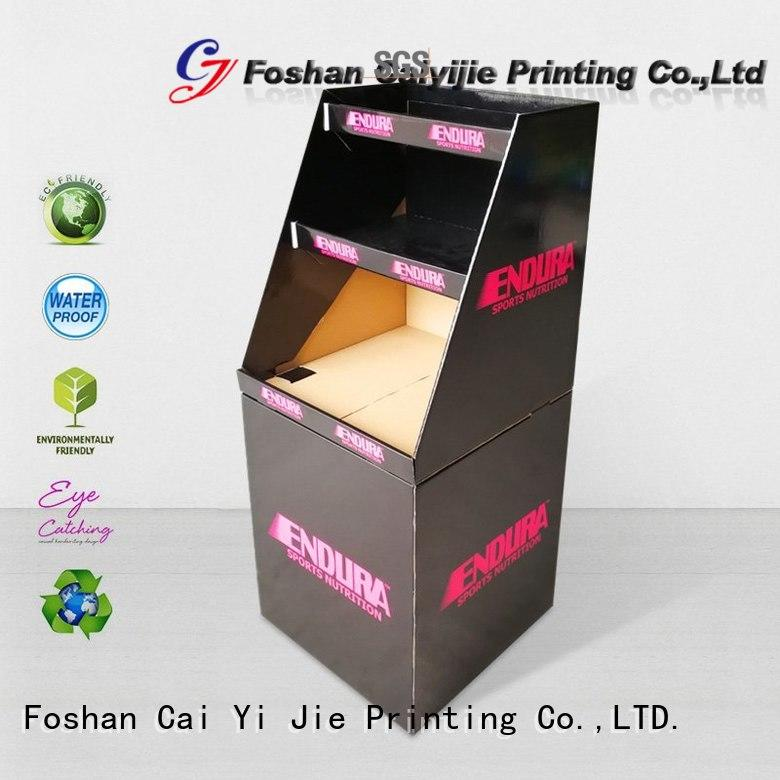 CAI YI JIE hot-sale cardboard parts bins floor standing for commodities