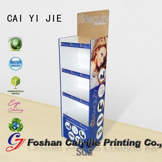 plastic cardboard pos display products CAI YI JIE
