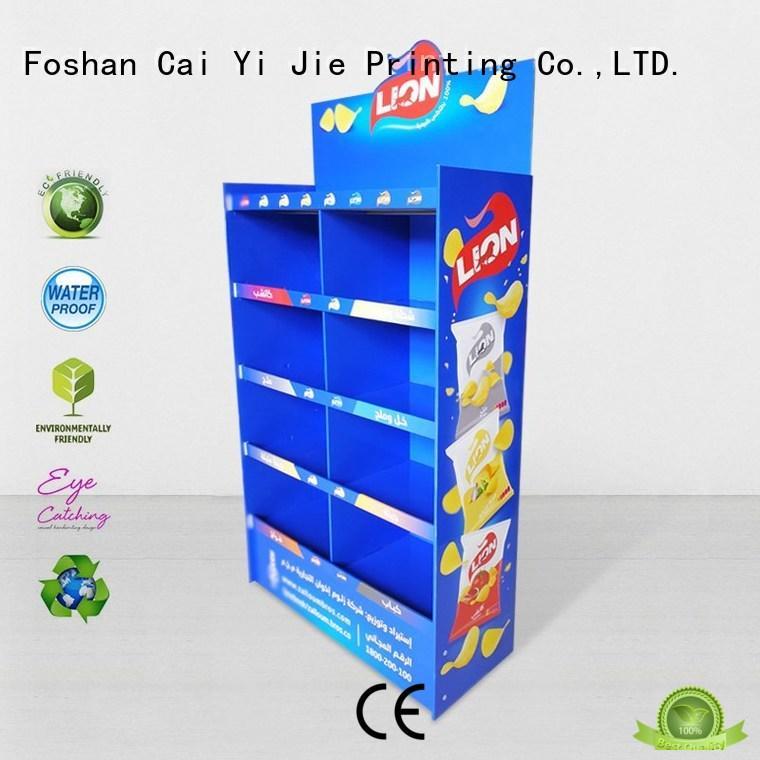 corrugated printed cardboard stand retai CAI YI JIE company