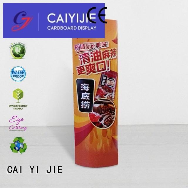 cardboard totem display ODM for advertizing CAI YI JIE