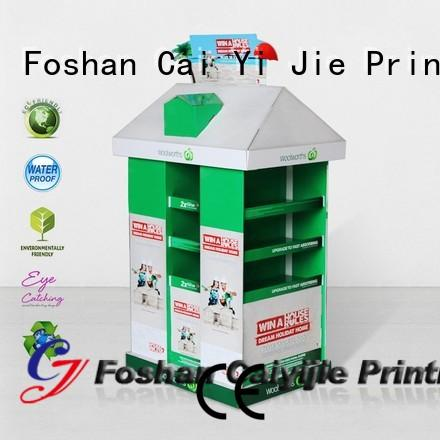 CAI YI JIE cardboard pallet display retail for chain store