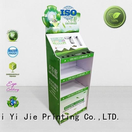 stainless tube cardboard pop up displays shelve for socket selling