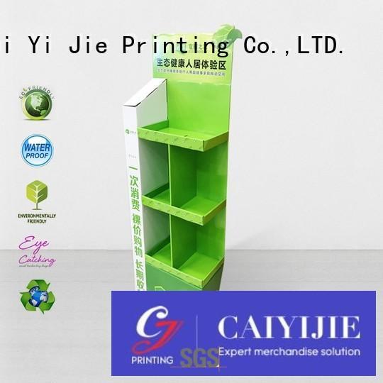 promotional tube retai floor cardboard stand CAI YI JIE