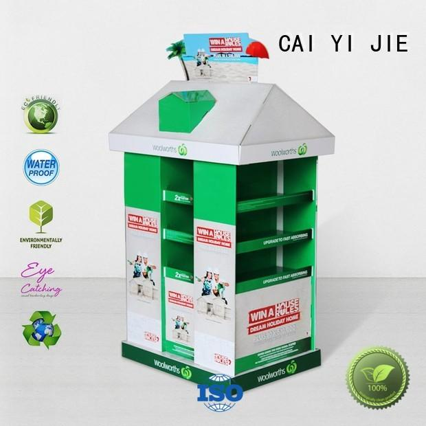 CAI YI JIE advertising cardboard pallets uk retail for chain store