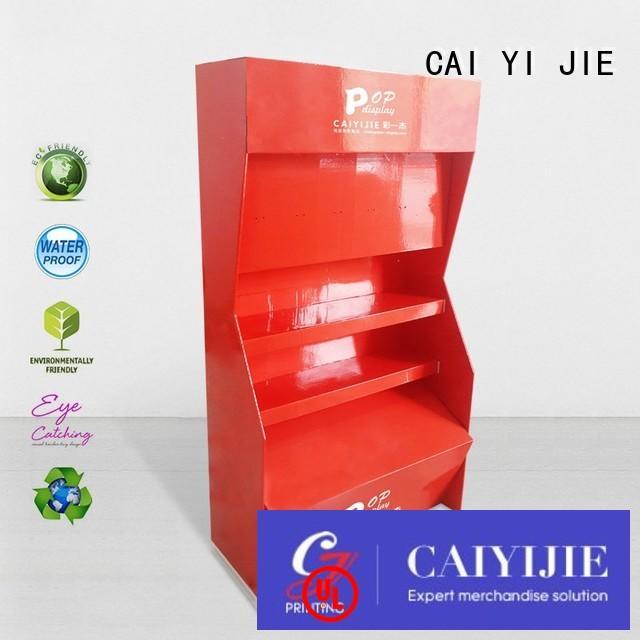 CAI YI JIE plastic cardboard table display stands step
