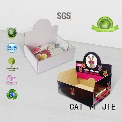 Custom units promotional cardboard display boxes CAI YI JIE product