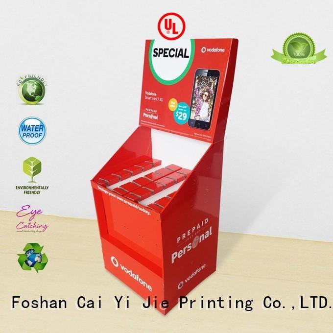 CAI YI JIE Brand cardboard full display stair hook display stand