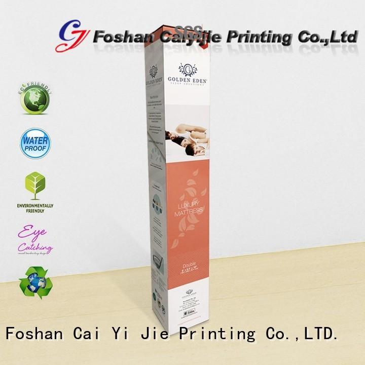 CAI YI JIE custom packaging boxes color printing for milk display