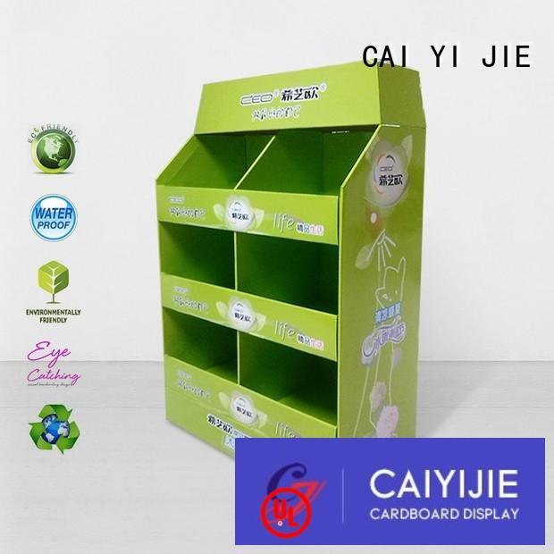 cardboard display rack fsdu for shop CAI YI JIE