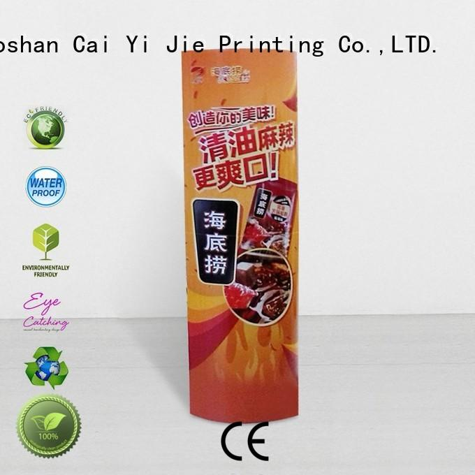CAI YI JIE display totem durable for promotion