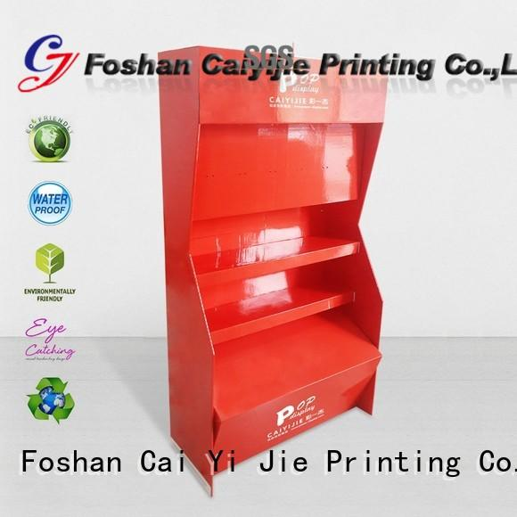 CAI YI JIE large cardboard point of sale display stands fordrink