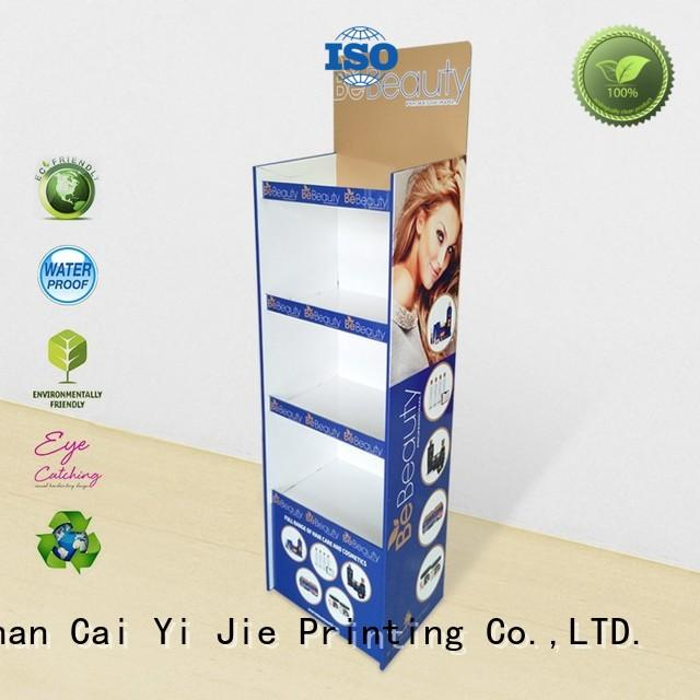 CAI YI JIE large custom cardboard display stands osram
