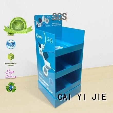 cardboard greeting card display stand printed stores CAI YI JIE Brand company