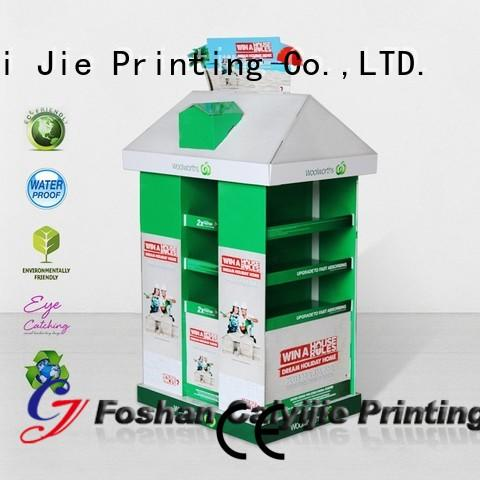cardboard pallet display plastic carton CAI YI JIE Brand pallet display
