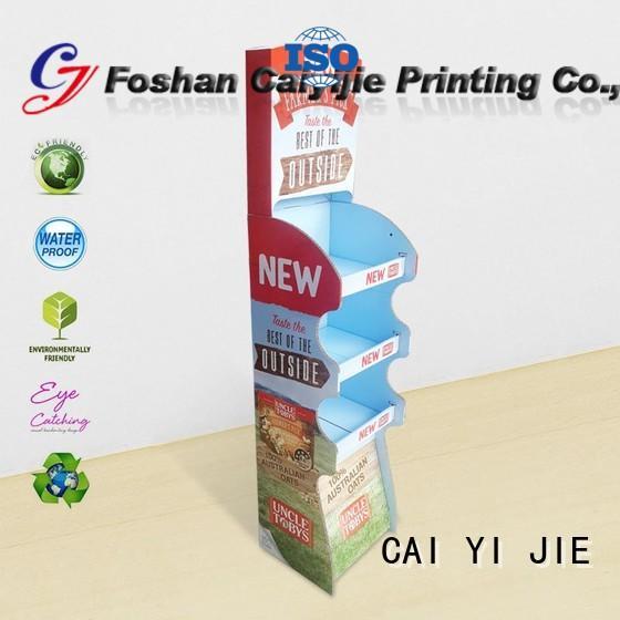cardboard greeting card display stand stand sale cardboard stand product CAI YI JIE Brand