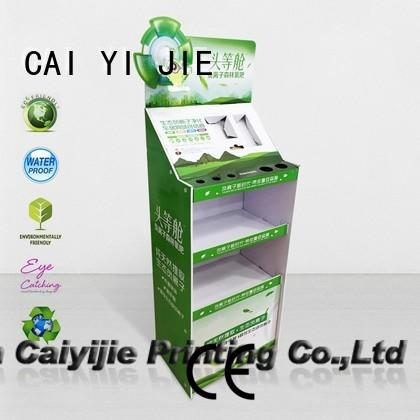 CAI YI JIE Brand stainless uv custom cardboard greeting card display stand