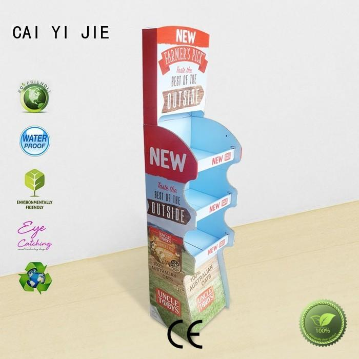 point of sale display stair for milk CAI YI JIE