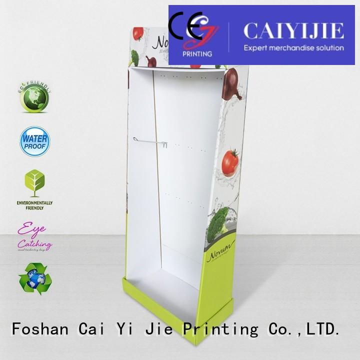 printing stair product cardboard stand point CAI YI JIE Brand