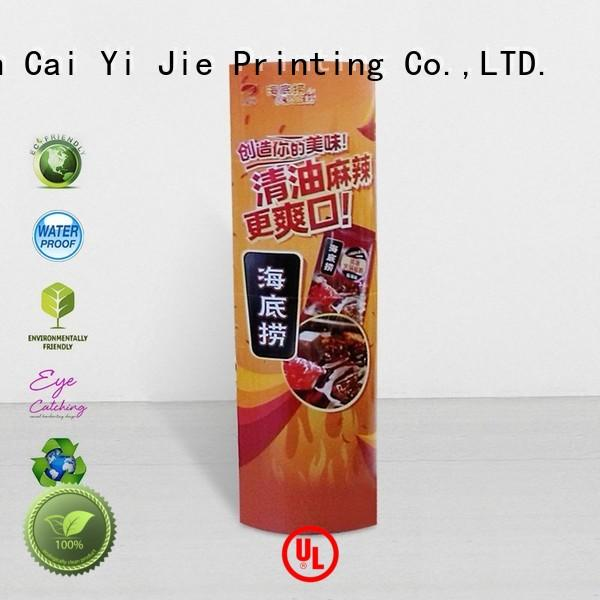 CAI YI JIE display totem durable for advertizing