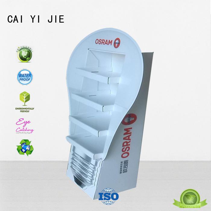 cardboard point of sale display stands dumpbin fordrink CAI YI JIE