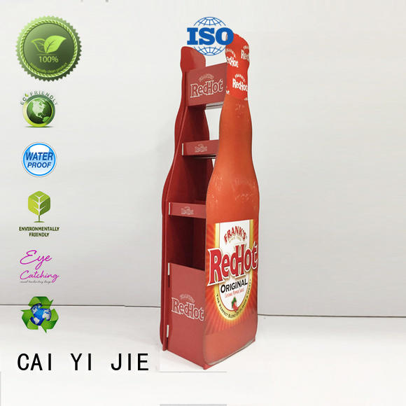 CAI YI JIE corrugated cardboard retail display stands for promotion
