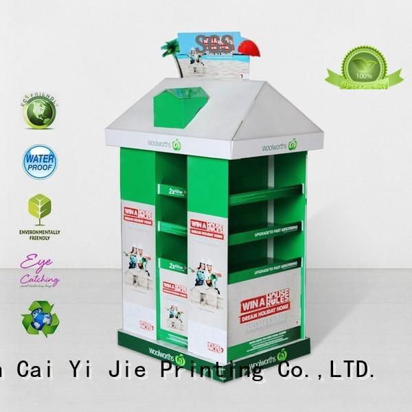 CAI YI JIE Brand install advertising cardboard pallet display