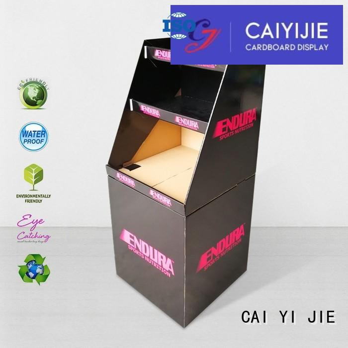 cheap price dumpbin floor standing for merchandising CAI YI JIE