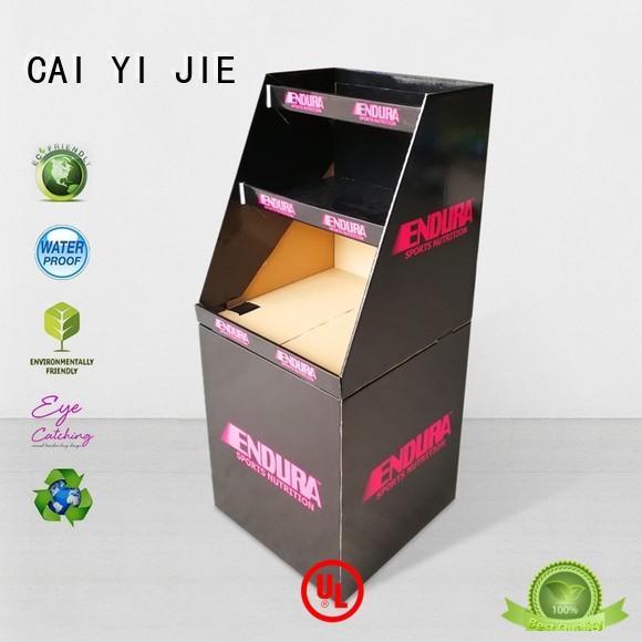 CAI YI JIE cardboard parts bins dumpbin for displays cheese