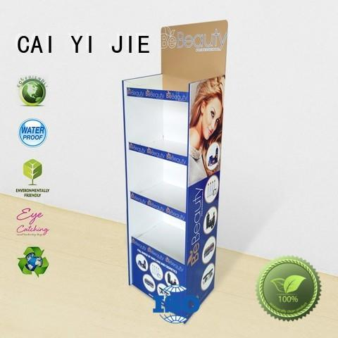 promotional cardboard floor display demo for milk