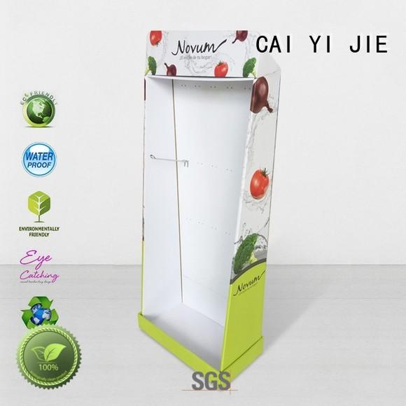 CAI YI JIE retail cardboard pos display stands