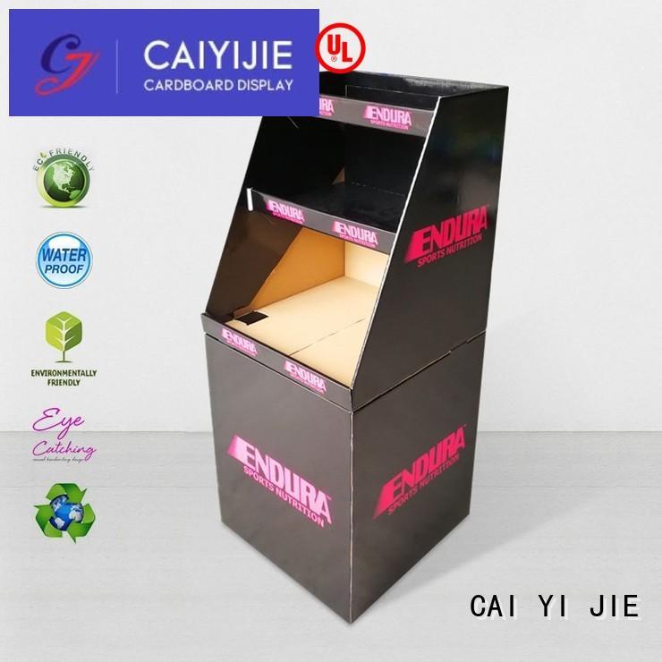 CAI YI JIE cheap price cardboard dump bins floor standing for commodities