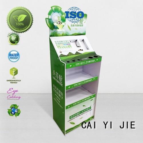 space cardboard CAI YI JIE Brand cardboard greeting card display stand
