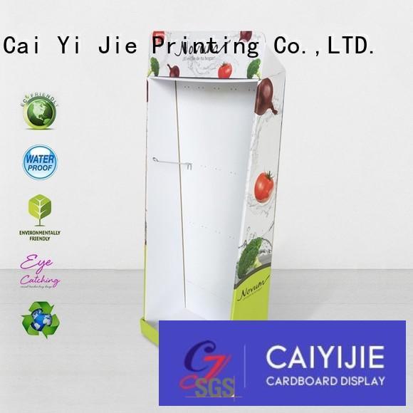 glossy cardboard floor display soft for store CAI YI JIE